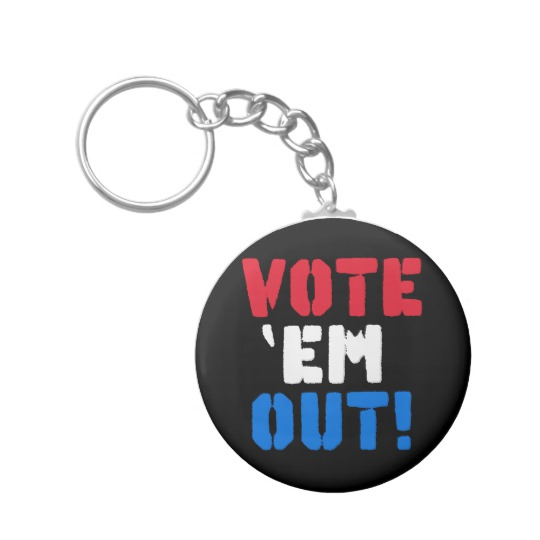 Vote em Out Basic Button Keychain