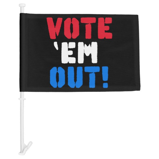 Vote em Out Car Flag