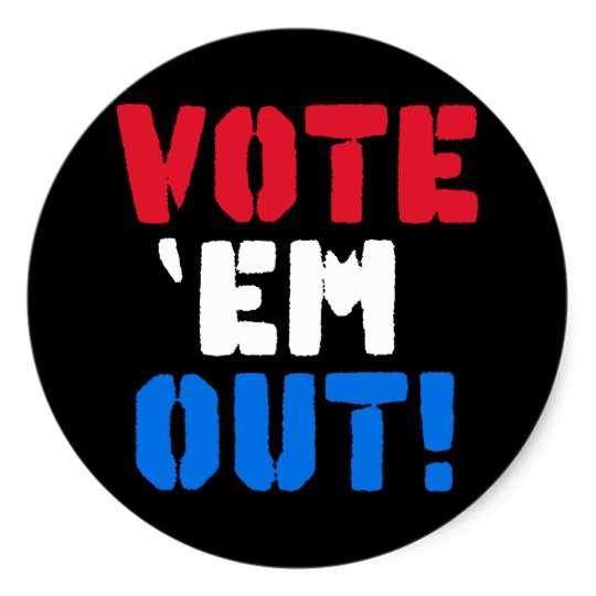 Vote em Out Classic Round Sticker
