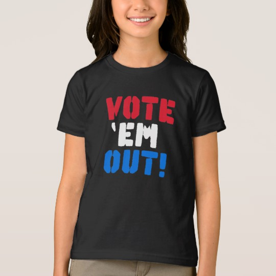 Vote em Out Girls' American Apparel Fine Jersey T-Shirt