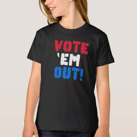 Vote em Out Girls' American Apparel Organic T-Shirt