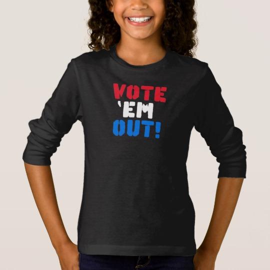 Vote em Out Girls' Basic Long Sleeve T-Shirt