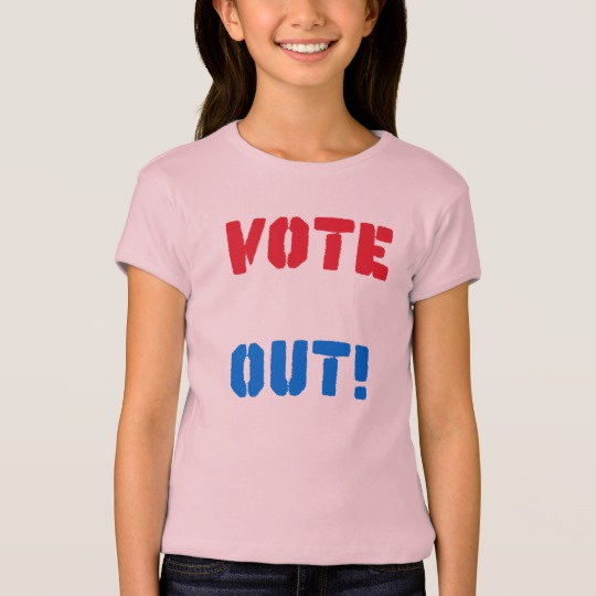 Vote em Out Girls' Bella+Canvas Fitted Babydoll T-Shirt