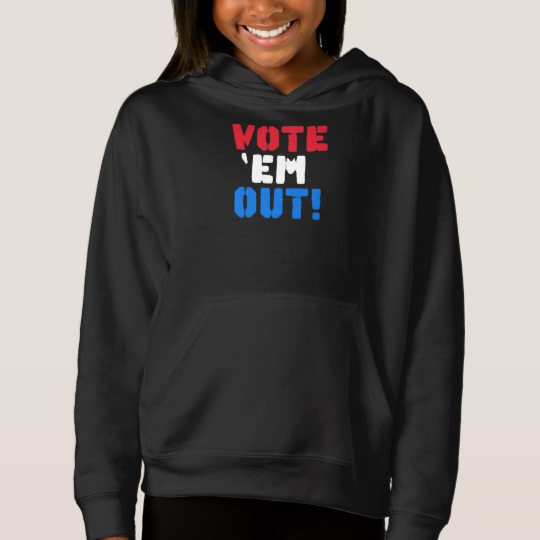 Vote em Out Girls' Fleece Pullover Hoodie
