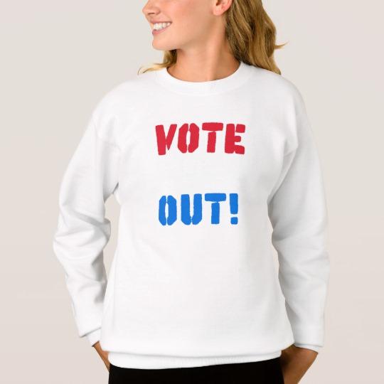 Vote em Out Girls' Hanes ComfortBlend® Sweatshirt
