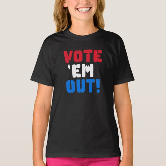 Vote em Out Girls' Hanes TAGLESS® T-Shirt