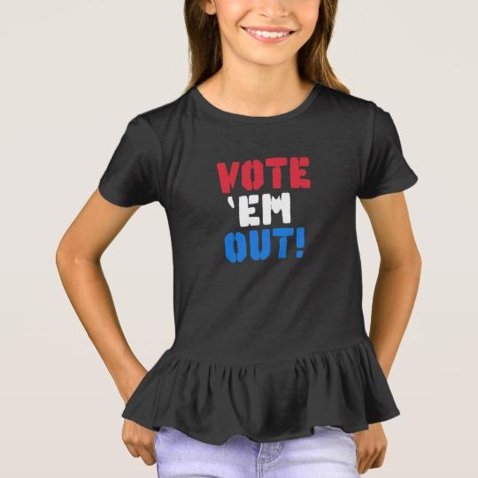 Vote em Out Girls' Ruffle T-Shirt