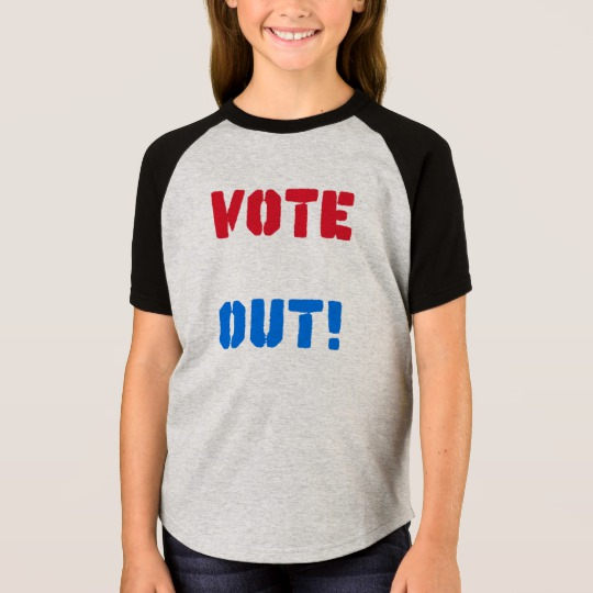 Vote em Out Girls' Short Sleeve Raglan T-Shirt