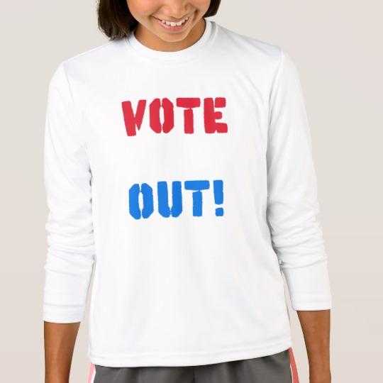 Vote em Out Girls' Sport-Tek Competitor Long Sleeve T-Shirt