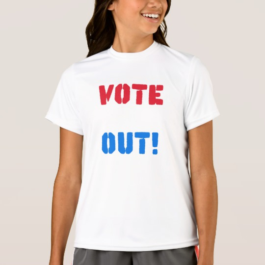 Vote em Out Girls' Sport-Tek Competitor T-Shirt