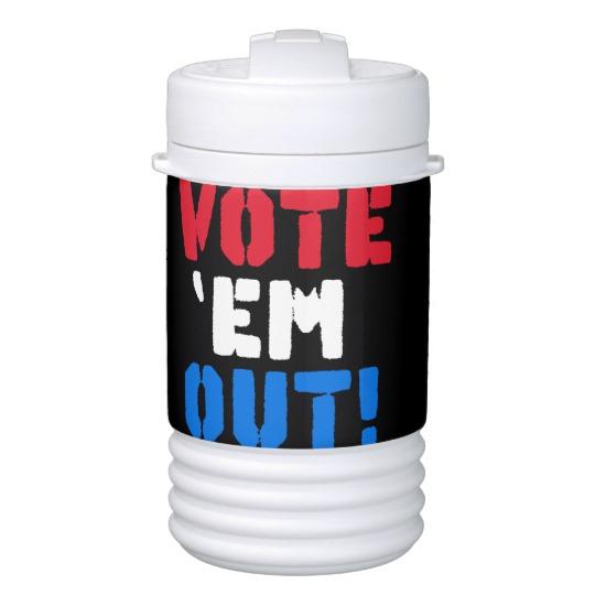 Vote em Out Igloo Beverage Cooler - One Quart