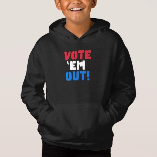 Vote em Out Kids' Fleece Pullover Hoodie