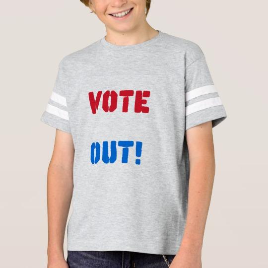 Vote em Out Kids' Football Shirt