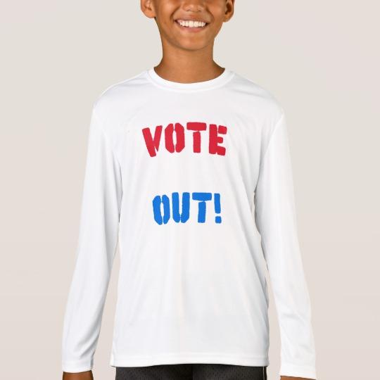 Vote em Out Kids' Sport-Tek Competitor Long Sleeve T-Shirt