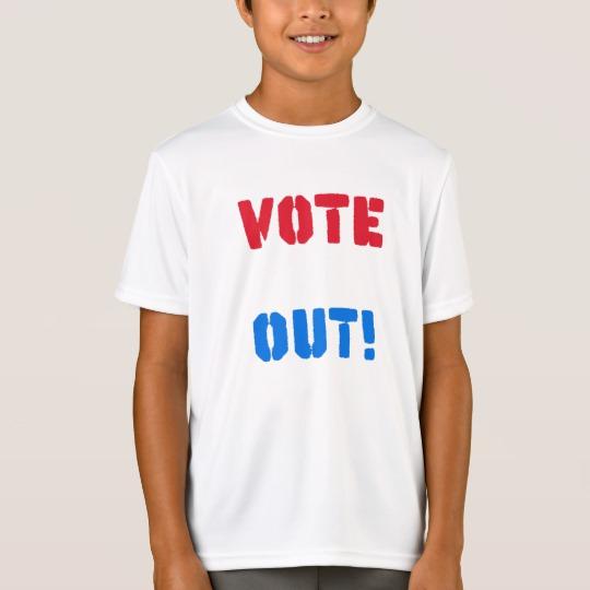 Vote em Out Kids' Sport-Tek Competitor T-Shirt