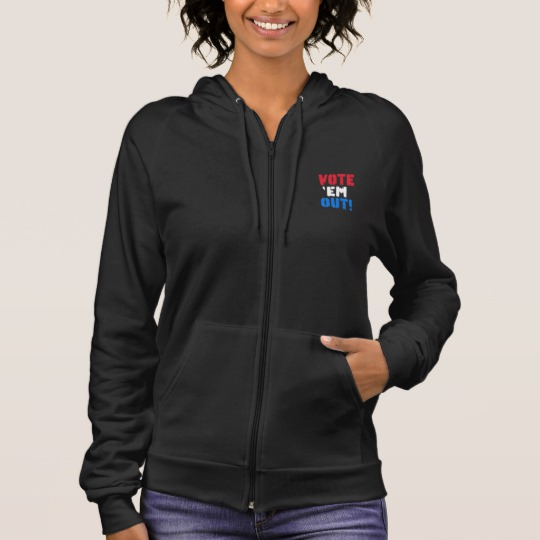 Vote em Out Men's American Apparel California Fleece Zip Hoodie