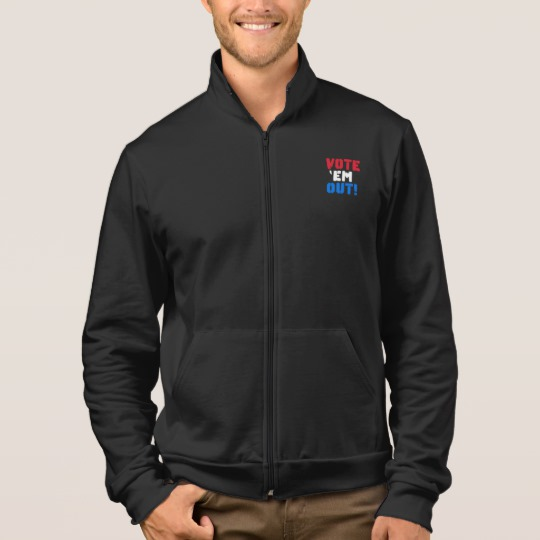 Vote em Out Men's American Apparel California Fleece Zip Jogger