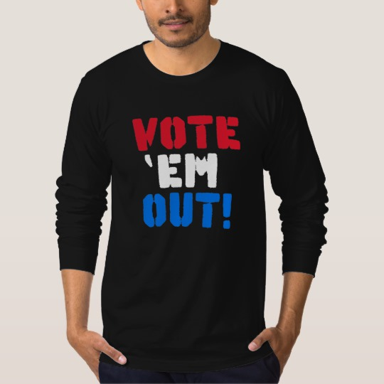 Vote em Out Men's American Apparel Fine Jersey Long Sleeve T-Shirt