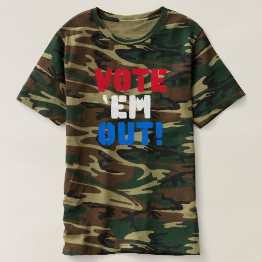 Vote em Out Men's Camouflage T-Shirt