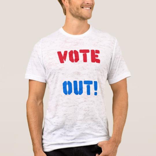 Vote em Out Men's Canvas Fitted Burnout T-Shirt