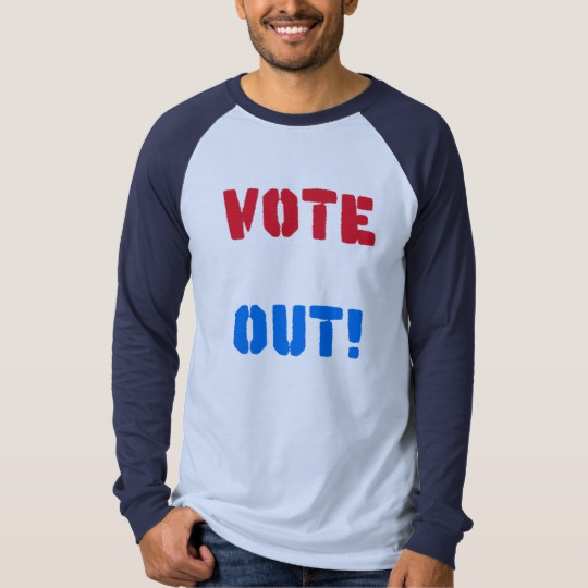 Vote em Out Men's Canvas Long Sleeve Raglan T-Shirt