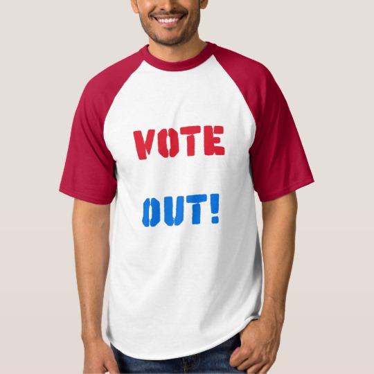 Vote em Out Men's Raglan Baseball T-Shirt