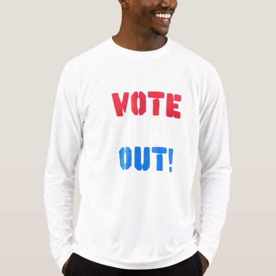 Vote em Out Men's Sport-Tek Fitted Performance Long Sleeve T-Shirt