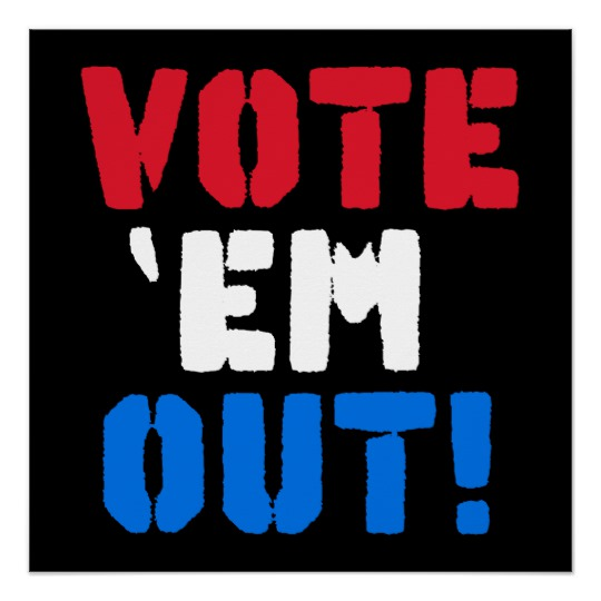 Vote em Out The Zazzle Perfect Poster (Glossy Finish)
