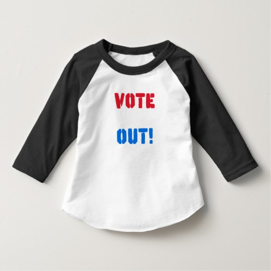 Vote em Out Toddler American Apparel 3/4 Sleeve Raglan T-Shirt