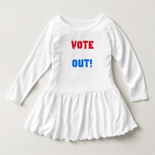 Vote em Out Toddler Ruffle Dress