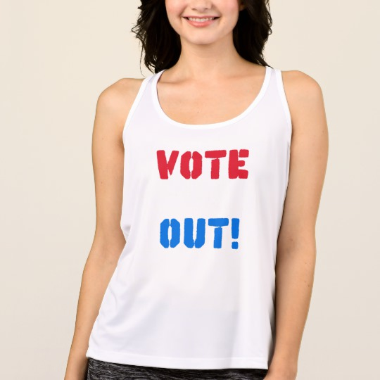 Vote em Out Women's All Sport Performance Tank Top