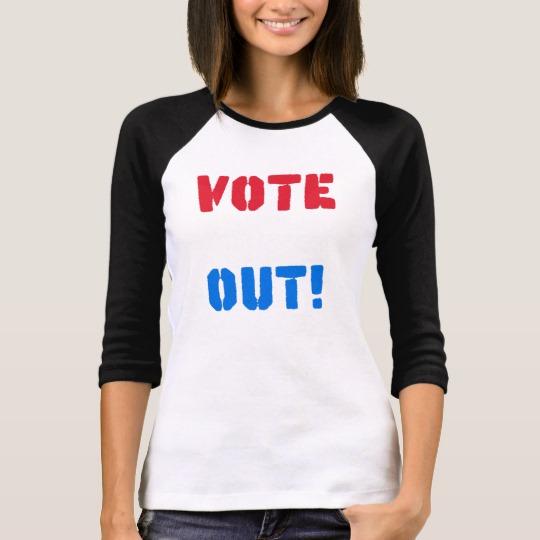 Vote em Out Women's Bella+Canvas 3/4 Sleeve Raglan T-Shirt