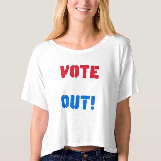 Vote em Out Women's Bella+Canvas Boxy Crop Top T-Shirt