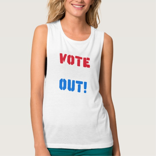 Vote em Out Women's Bella+Canvas Flowy Muscle Tank Top