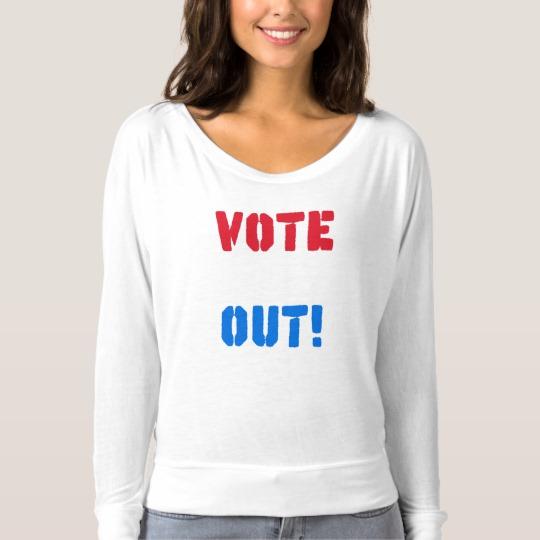 Vote em Out Women's Bella+Canvas Flowy Off Shoulder Shirt