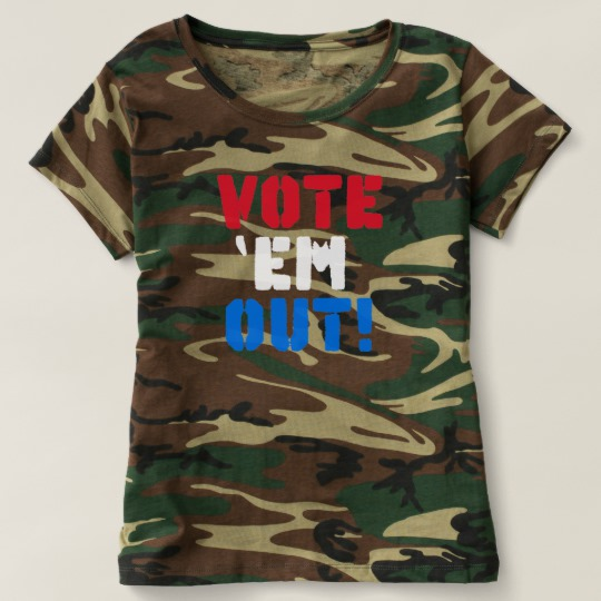 Vote em Out Women's Camouflage T-Shirt