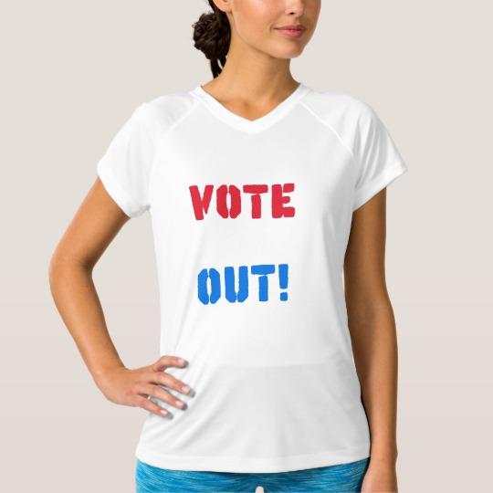 Vote em Out Women's Champion Double-Dry V-Neck T-Shirt