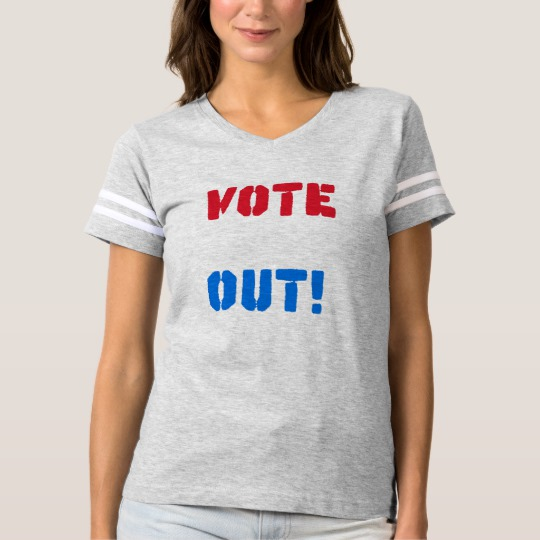 Vote em Out Women's Football T-Shirt