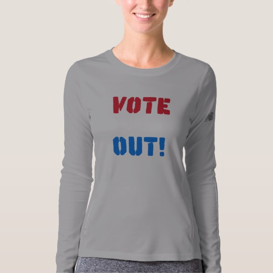 Vote em Out Women's New Balance Long Sleeve T-Shirt