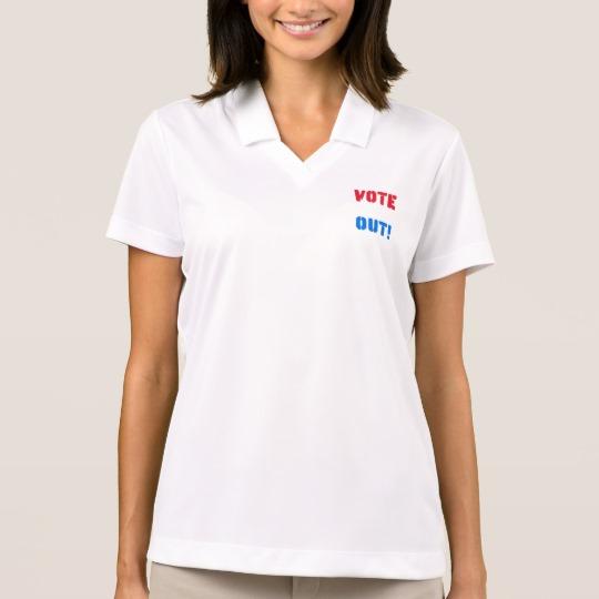 Vote em Out Women's Nike Dri-FIT Pique Polo Shirt
