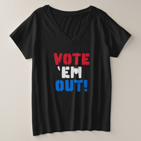 Vote em Out Women's Plus-Size V-Neck T-Shirt