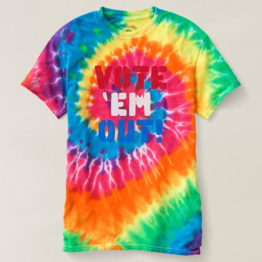 Vote em Out Women's Spiral Tie-Dye T-Shirt