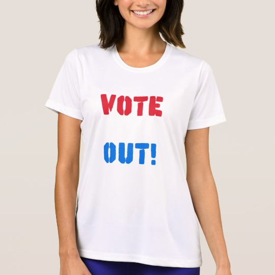 Vote em Out Women's Sport-Tek Competitor T-Shirt
