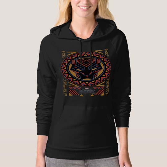 Black Panther Tribal Head American Apparel California Fleece Pullover Hoodie