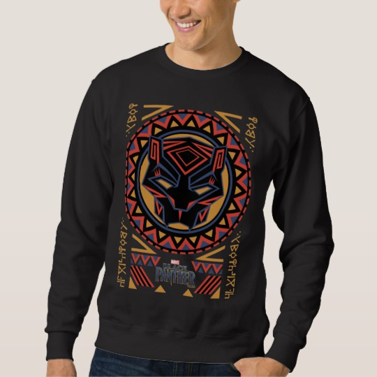 Black Panther Tribal Head Basic Dark T-Shirt