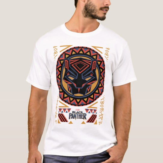 Black Panther Tribal Head Basic T-Shirt