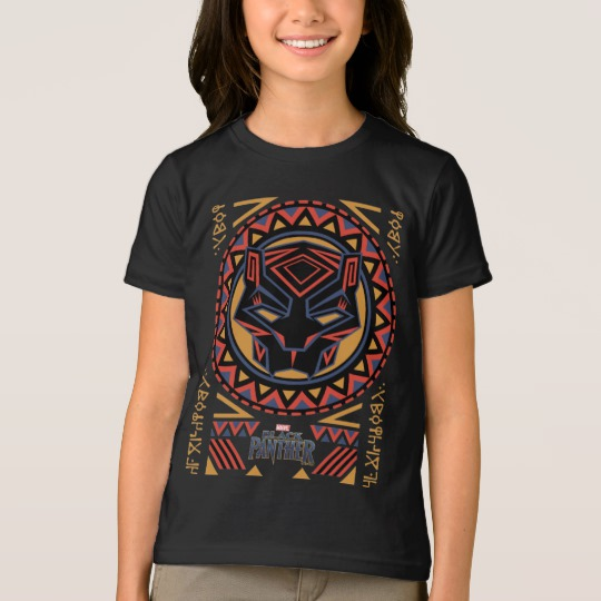 Black Panther Tribal Head Girls' American Apparel Fine Jersey T-Shirt