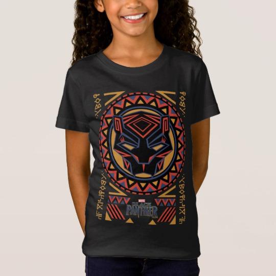 Black Panther Tribal Head Girls' Fine Jersey T-Shirt
