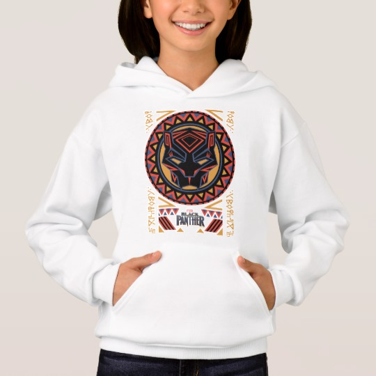 Black Panther Tribal Head Girls' Hanes ComfortBlend® Hoodie