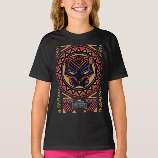Black Panther Tribal Head Girls' Hanes TAGLESS® T-Shirt